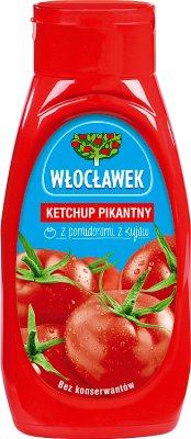 Włocławek ketchup w butelce plastikowej  pikantny