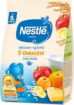 Nestle kaszka mleczno-ryżowa  5 owoców
