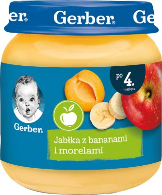 Gerber owoce  jabłka z morelami i bananami