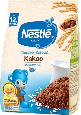 porridge laiteux riz avec du cacao