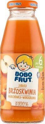 100% яблочный сок - морковный - персик