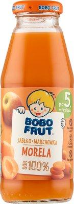 Bobo Frut sok 100%  jabłko, marchewka i morela