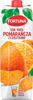 Fortuna sok 100% bez dodatku cukru pomarańczowy z cząstkami owoców