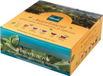 Dilmah Pick n Mix zestaw herbat 6 x 20 saszetek (English Breakfast, Earl Grey, Pure Green tea, Spicy Berry, Ginger&Lemon)
