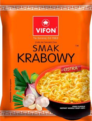 Vifon zupa błyskawiczna w proszku krabowa ostra