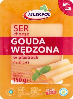 Mlekpol Gouda Wędzona ser żółty plastry