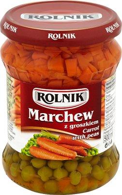 Karotten und Erbsen
