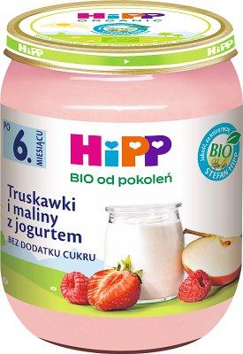 Truskawki i maliny z jogurtem BIO