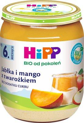 Hipp Owocowy Duet  Jabłka i mango z twarożkiem BIO