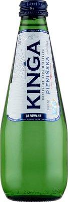 Kinga Pienińska mineralna woda gazowana  szklana butelka