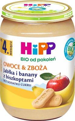 Jabłka i banany z biszkoptami BIO