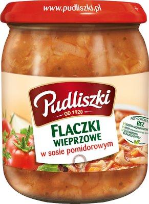 Pudliszki danie mięsne gotowe Flaczki wieprzowe w sosie pomidorowym