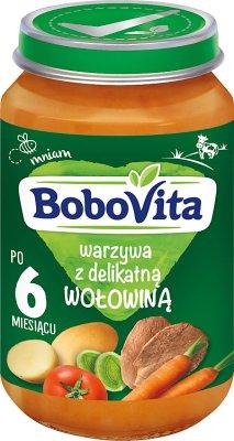 Bobovita obiadek  Warzywa z delikatną wołowiną