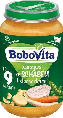 Bobovita obiadek warzywa ze schabem i kluseczkami