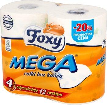 Foxy Mega papier toaletowy 4 mega rolki