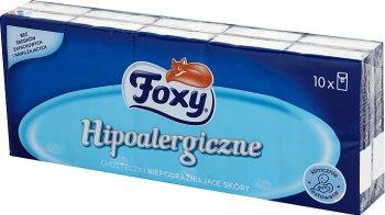 Foxy chusteczki higieniczne hipoalergiczne 3 warstwowe 10 paczek po 10 sztuk
