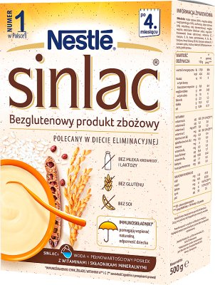 producto de grano sinlac sin gluten para los bebés con alergias proteína de la leche de vaca y de la proteína de soja