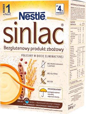 Nestle Sinlac produkt zbożowy bezglutenowy dla niemowląt z alergią na białko mleka krowiego i  sojowe