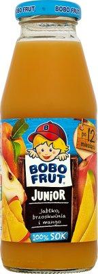 Bobo Frut Junior sok 100% jabłko, brzoskwinia i mango