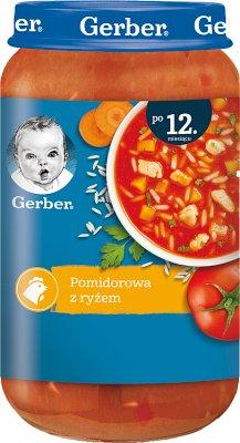 Gerber DoReMi zupka  pomidorowa z ryżem