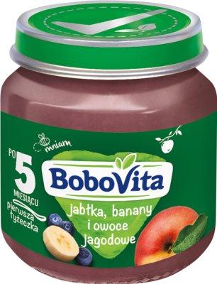 BoboVita deserek banany, jabłka i owoce jagodowe
