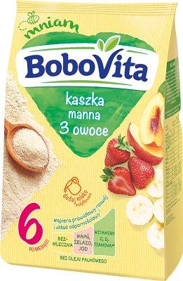 BoboVita kaszka manna 3 owoce