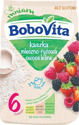 BoboVita Kaszka mleczno-ryżowa z owocami leśnymi