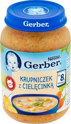 Gerber zupka  krupniczek z cielęciną