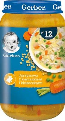 Gerber DoReMi zupka jarzynowa z kurczakiem i kluseczkami
