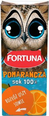 Fortuna Hot Wheels sok 100% w kartoniku ze słomką pomarańczowy