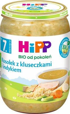 Hipp Rosołek z kluseczkami i indykiem BIO