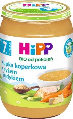 Hipp zupka koperkowa z ryżem i indykiem BIO