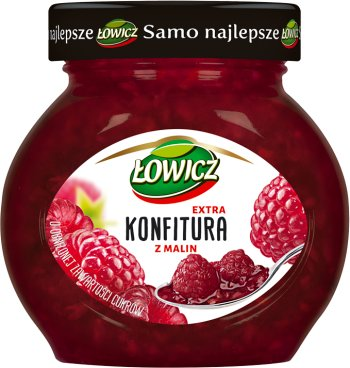 low-sugar jam with raspberries