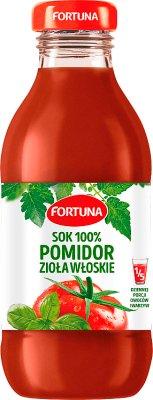 Fortuna sok 100% pomidorowy Zioła Włoskie