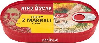 fillets of mackerel in oil