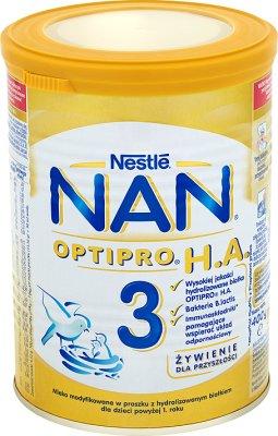 Nestle NAN 3 HA Pro mleko następne w proszku dla niemowląt