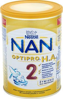 Nestle NAN 2 Pro HA mleko następne w proszku dla niemowląt