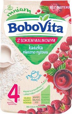 BoboVita  kaszka mleczno-ryżowa z sokiem  malinowym