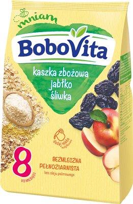 BoboVita Dla małego brzuszka kaszka 7 zbóż  z jabłkami i śliwkami