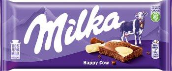 Milka czekoladam mleczna z białą czekoladą