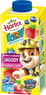 leon ( ) bois pour les enfants pommes , les baies dans un carton avec une paille