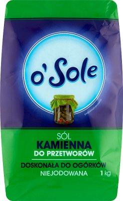 O'Sole sól kamienna niejodowana