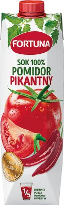 Fortuna sok 100% pomidorowy Tabasco