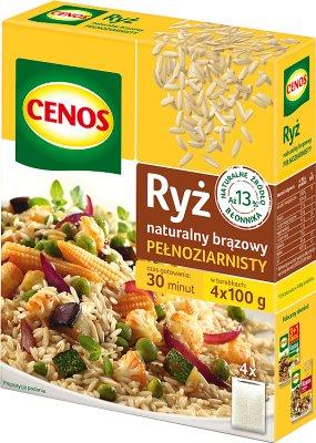 Cenos ryż naturalny brązowy - długi 4x100g
