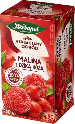 Herbapol Herbaciany Ogród  malina z dziką różą herbata torebki