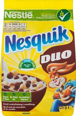 Nestle nesquik duo czekoladowe płatki śniadaniowe