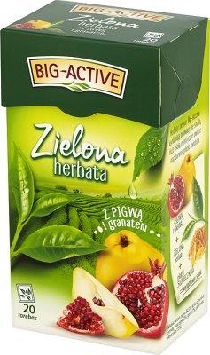 зеленый экспресс чай с айвой фруктов в пакетиках + граната