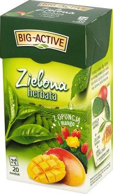 Big-Active herbata zielona ekspresowa z kawałkami opuncji w saszetkach