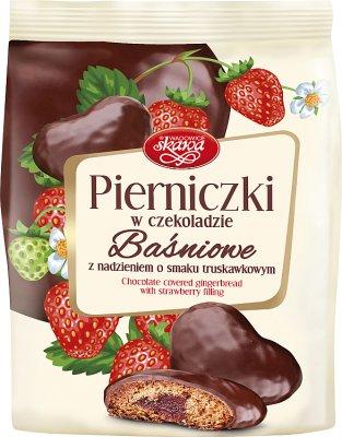 Skawa Pierniczki w czekoladzie baśniowe z nadzieniem truskawkowym