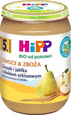 HiPP Owoce & Zboża gruszki i jabłka z kleikiem orkiszowym BIO